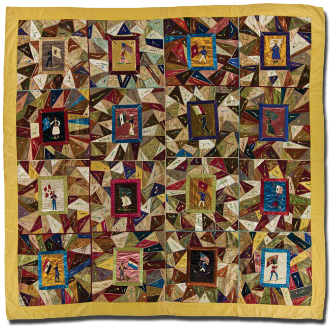 Crazy Quilt, maker unknown, made in the United States, circa 1880-1900, 77.5 x 80 in, IQSCM 2006.012.0003