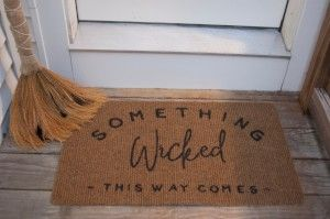 Goodwill Halloween DIY custom door mat