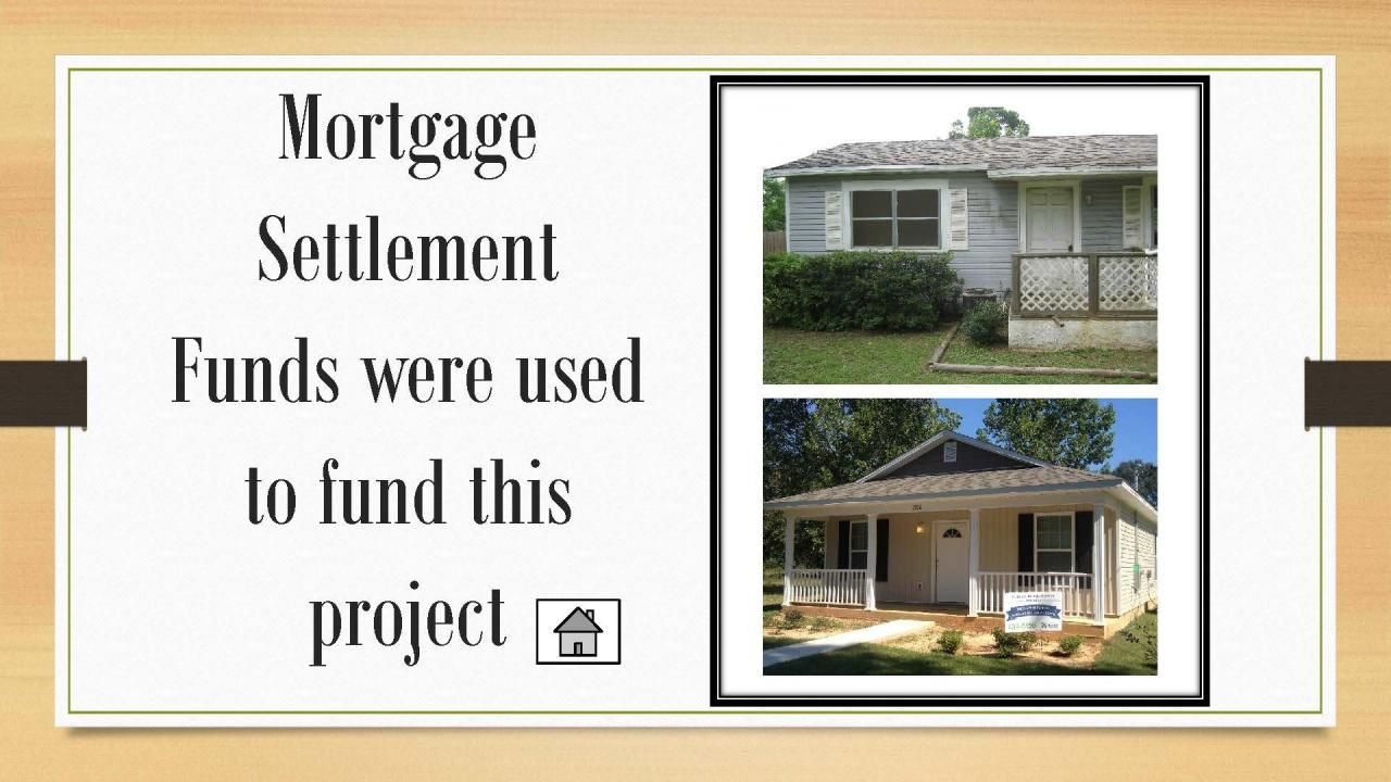 Mortgage Settlement Funds were used to fund this project.