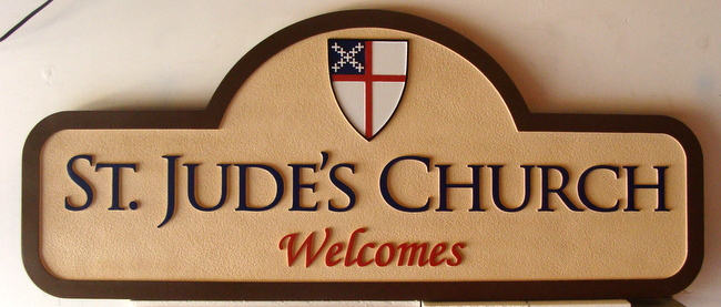 D13055 - Welcome Sign for St.Jude's Episcopal Church.