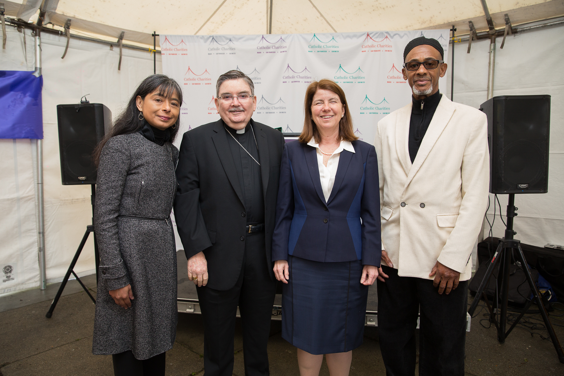 Jilma Meneses, Catholic Charities Chief Executive Officer, joined our Interfaith Blessing celebrants, Bishop William Justice of the San Francisco Archdiocese, Senior Rabbi Beth Singer of Congregation Emanu-El, and Imam Na'il Shakoor of the San Francisco M