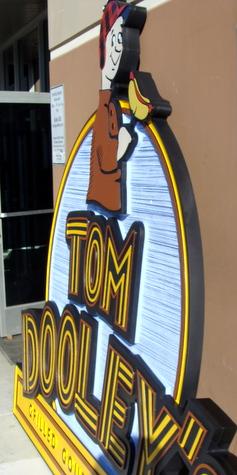 Q25802 - Side View of Q25801, Dimensional HDU Hot Dog Restaurant Sign