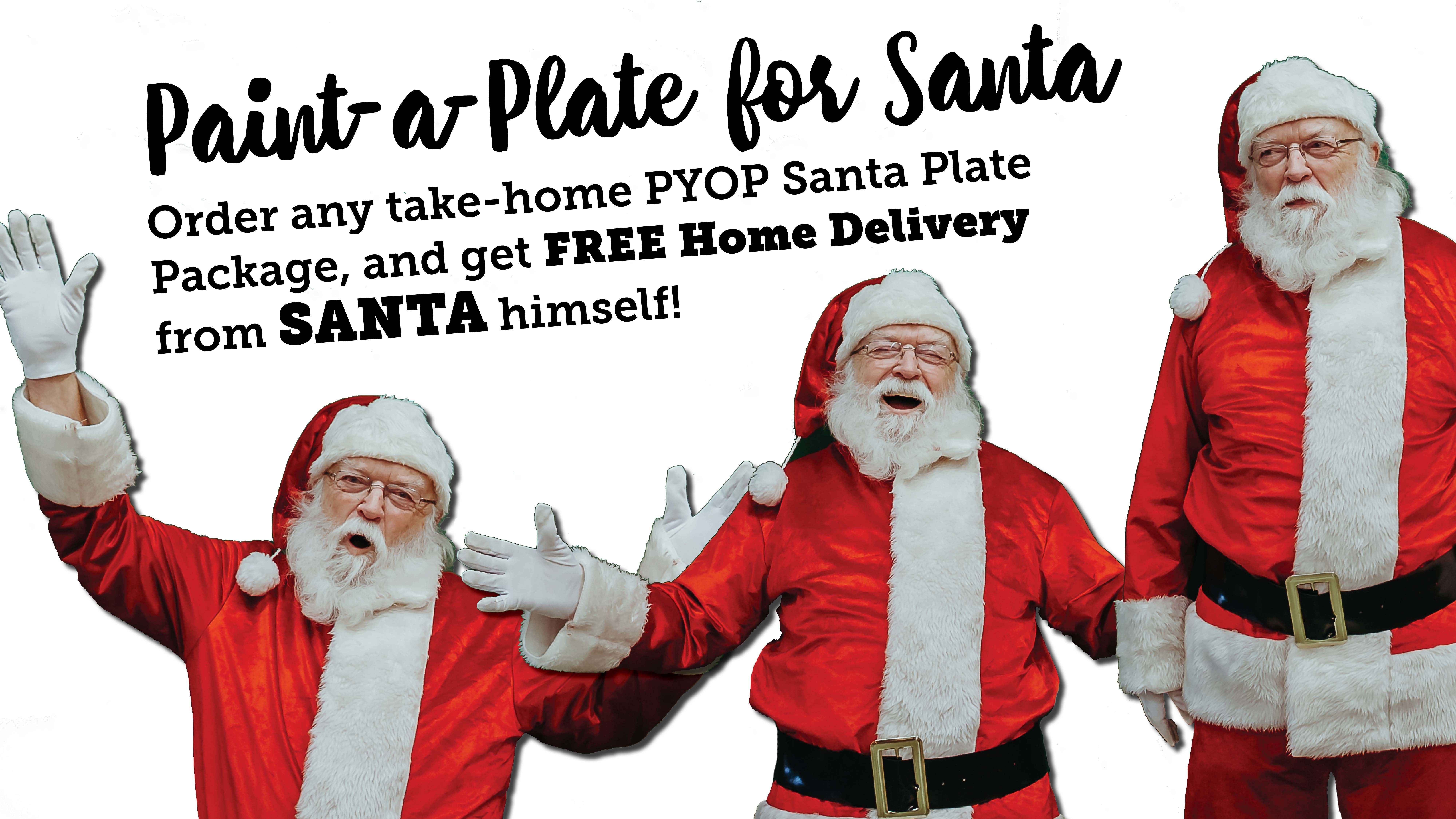Paint-a-Plate for Santa!