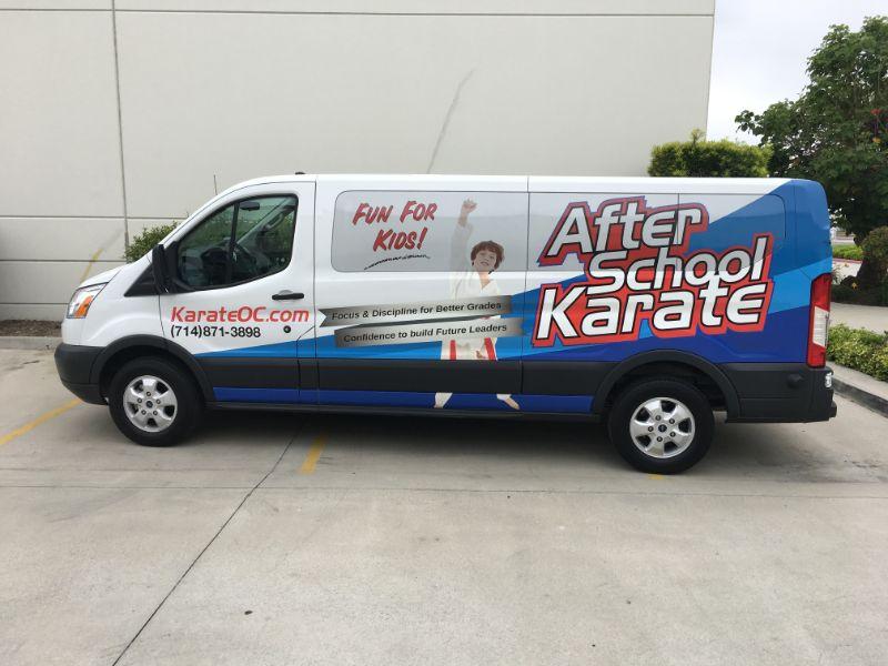 Ford Transit Passenger Van Graphics in Fullerton CA