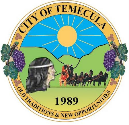 DP-2260 - Carved Plaque of the Seal of the City of Temecula, California, Artist Painted