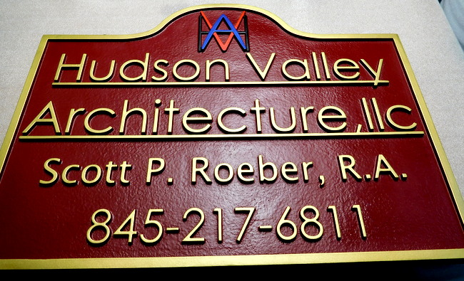M1648 -  Entrance Sign for an Arcitectural Firm  (Galleries 28 and 28A).