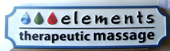B11170 - Carved and Sandblasted HDU Therapeutic  Massage Office Sign