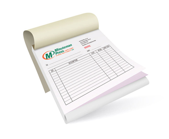 Carbonless Forms (E.g. Invoice Books)