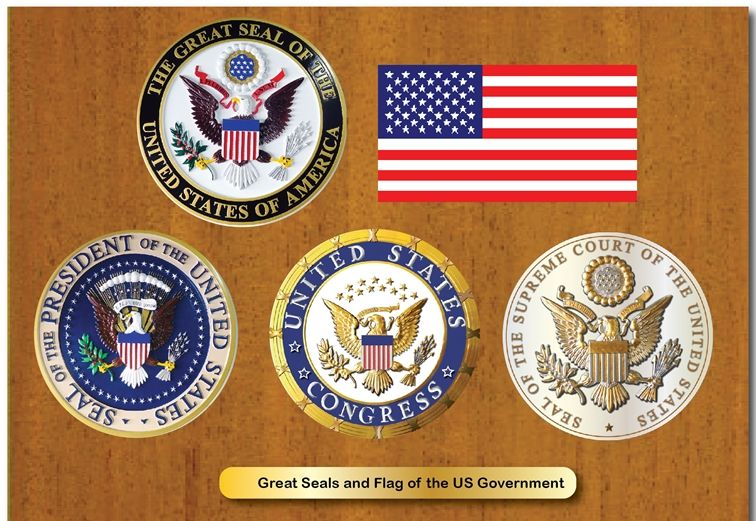 EA-1010 -Seals of the US Great Seal, the US Flag, and the Three Federal Government Branches and the US Great Seal and Flag