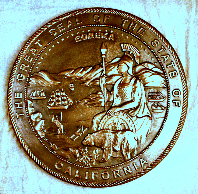 M7055- Bronze Wall Plaque for State of California Great Seal