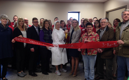 Ribbon Cutting for the New Animal Shelter