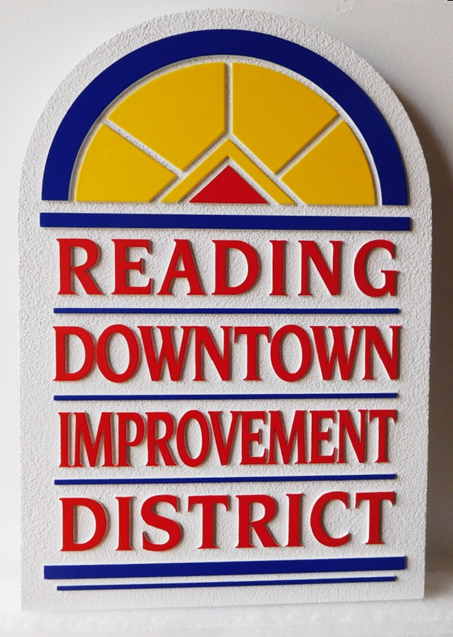 F15565 - Carved Sign for the Reading Downtown Improvement District, 2.5-D