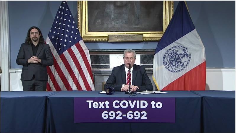 "Coronavirus News: Some ""low-risk"" inmates to be released, NYC Mayor de Blasio says"