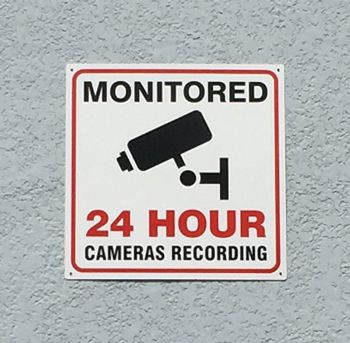 Security Recording Sign
