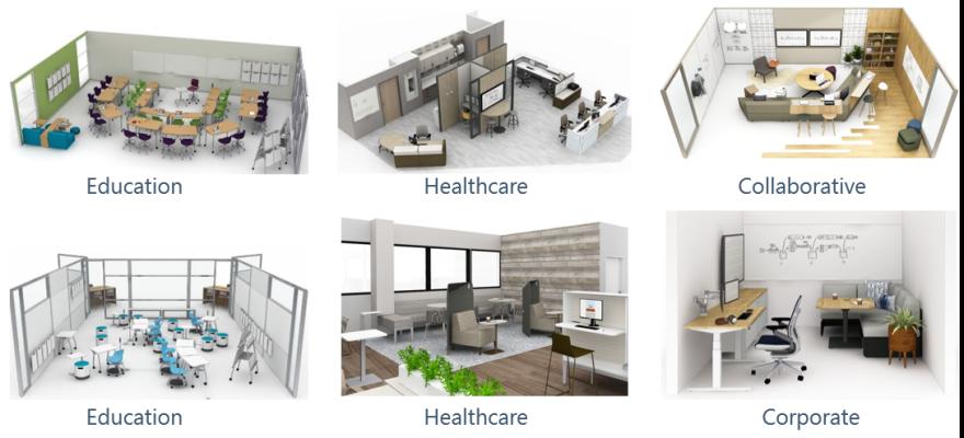 Various Design Layouts - 3D Renders