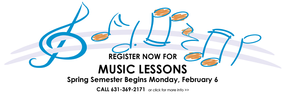 Register Now for Music Lessons (Spring Semester starts 2/6/2016)