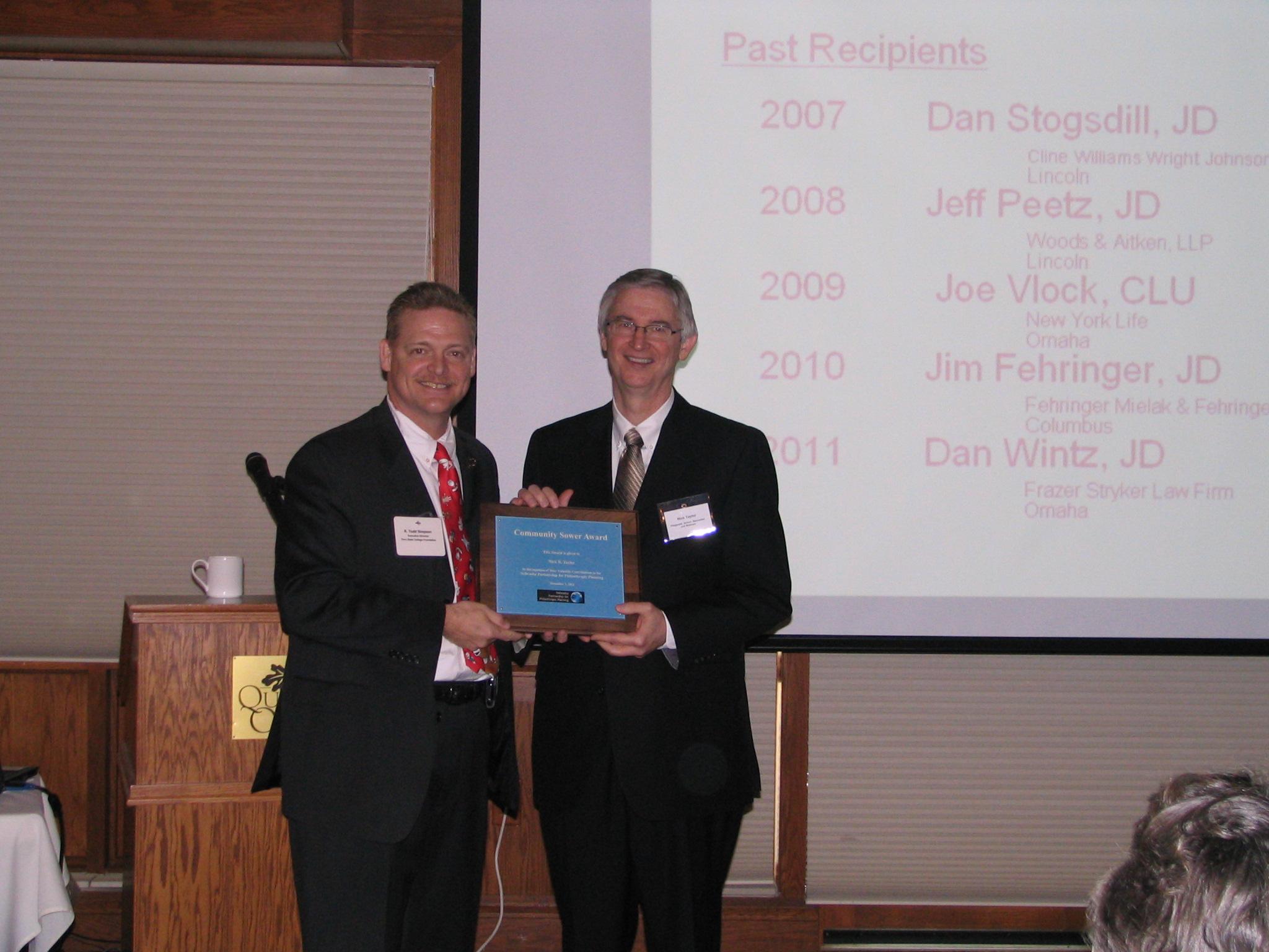 2012 Community Sower Award