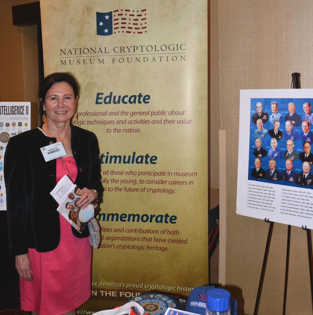 Visiting the NCMF booth at 2015 AFIO Spring Luncheon