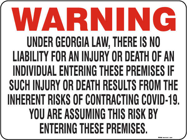 Georgia COVID-19 Pandemic Business Safety Act