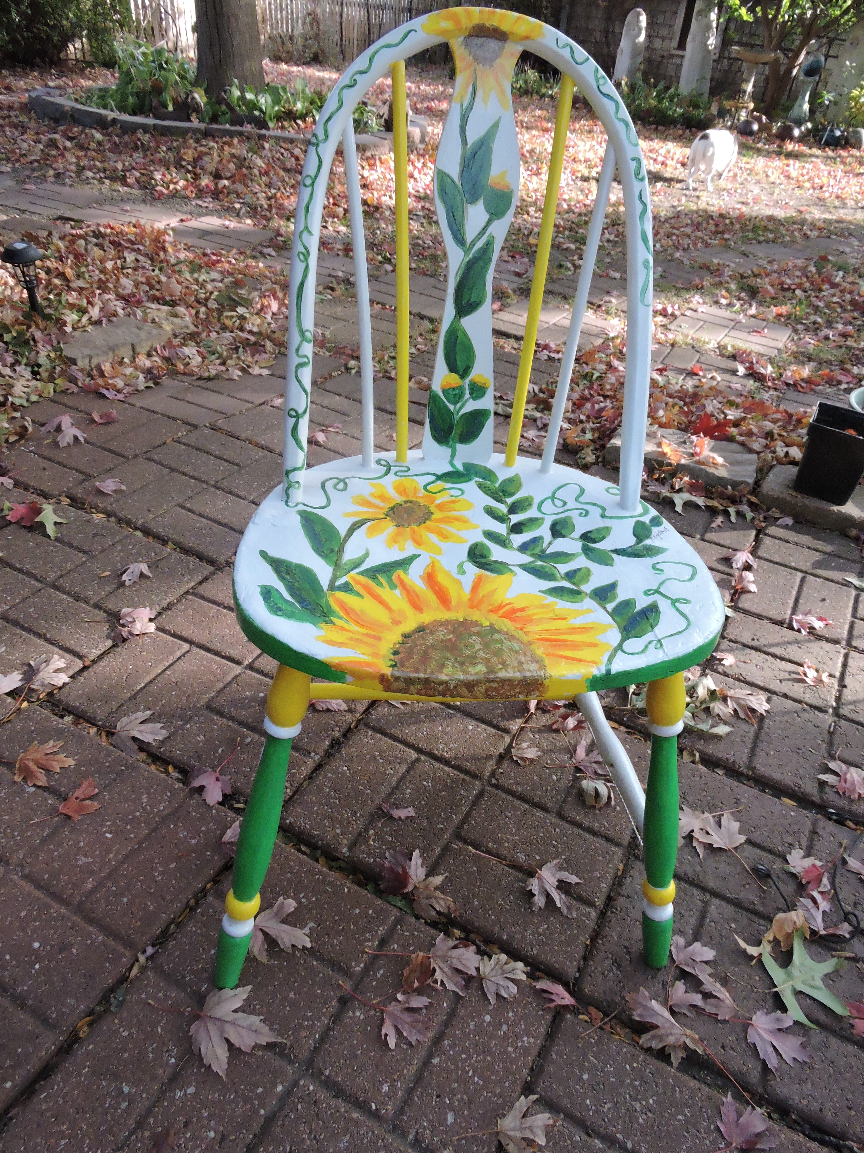 Happy Sunflower Chair by Barb Highstreet