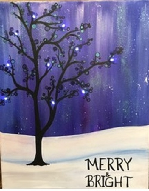Merry & Bright Corks & Canvas Class with Linda Anderson-Paine