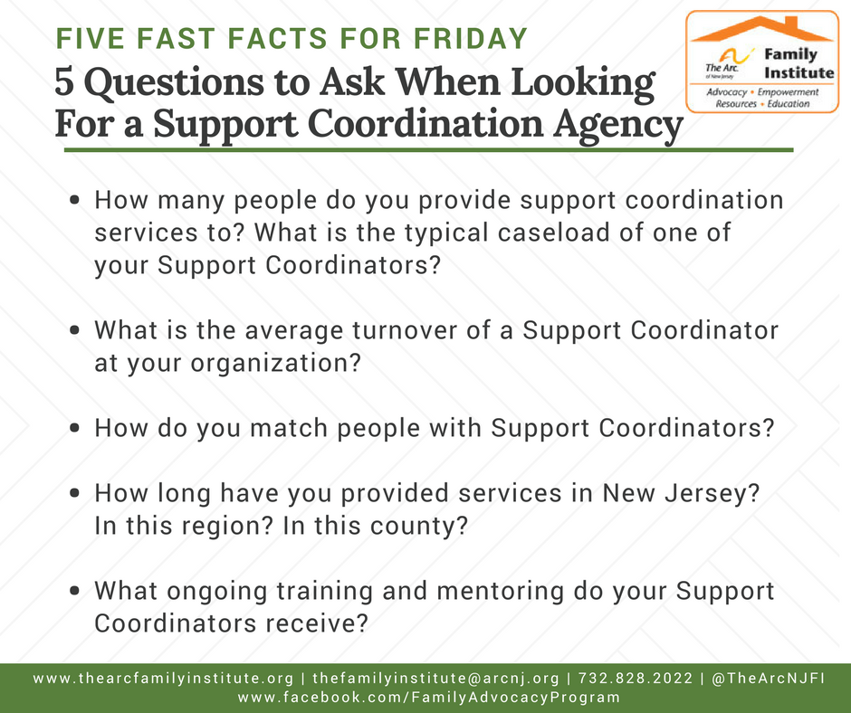 5 things to ask when looking for a support coordination aygency