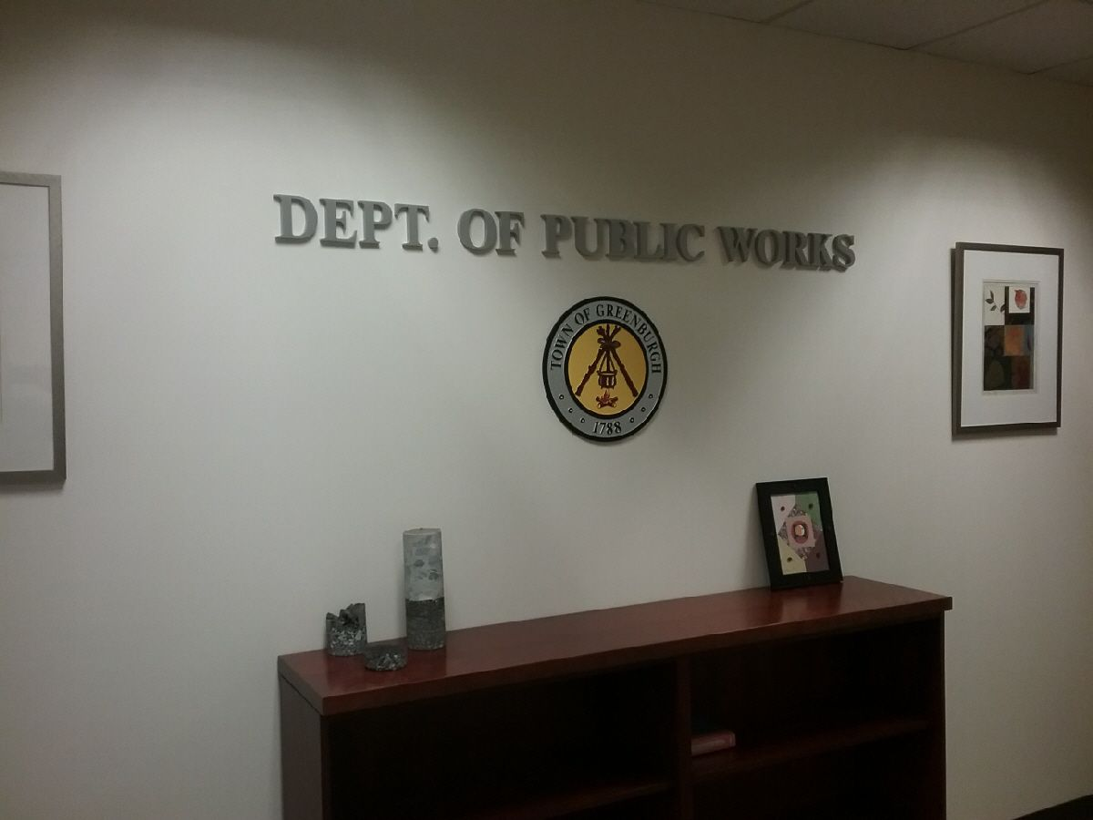Reception raised lettering & plaques