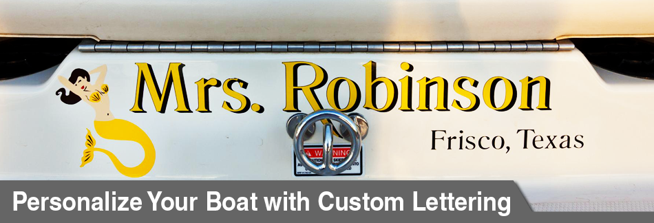 Boat Custom Lettering