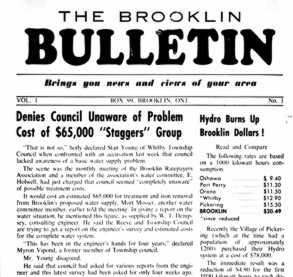 The Brooklin Bulletin, Brooklin Ontario Newspaper April 1959