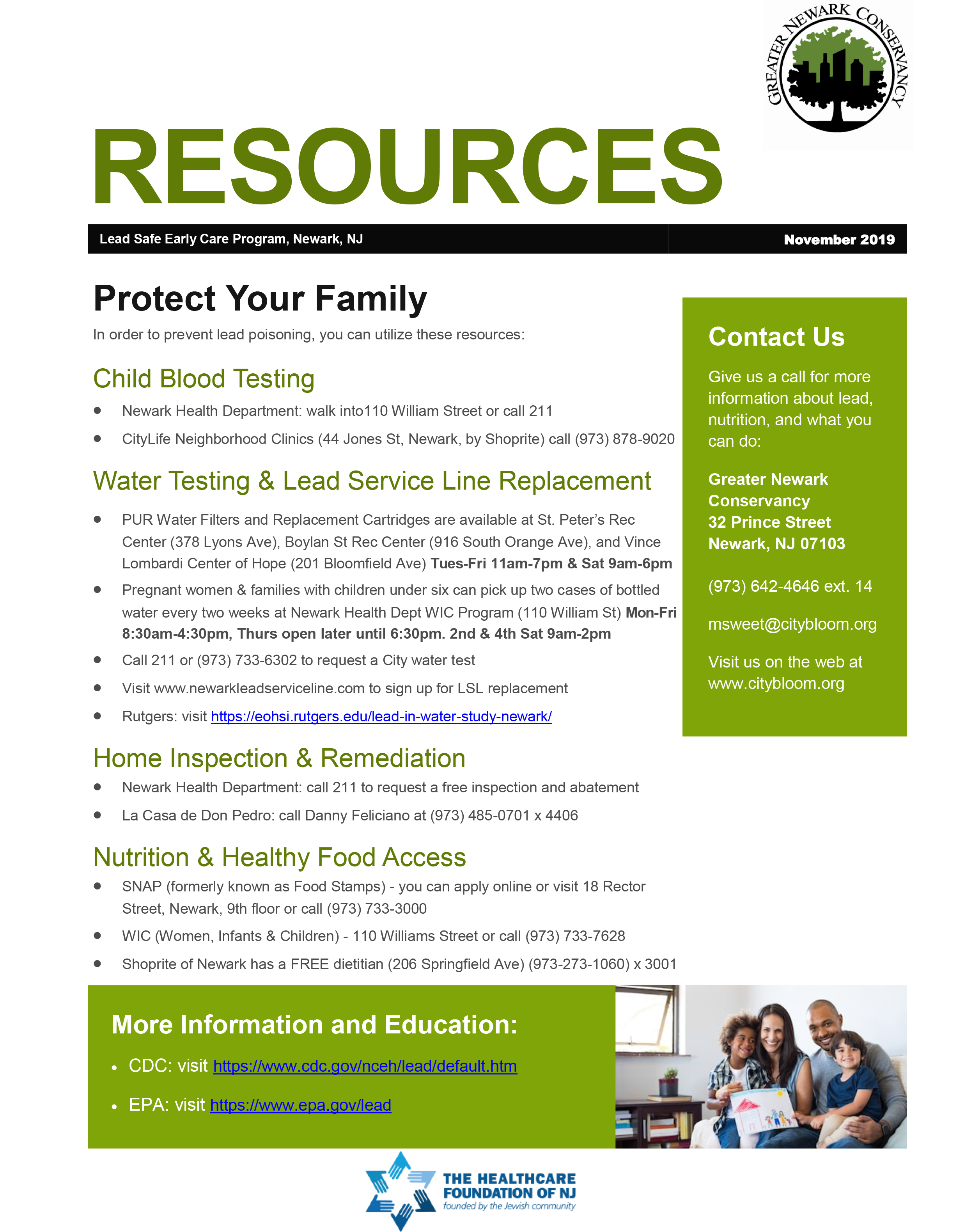 Resources for Lead