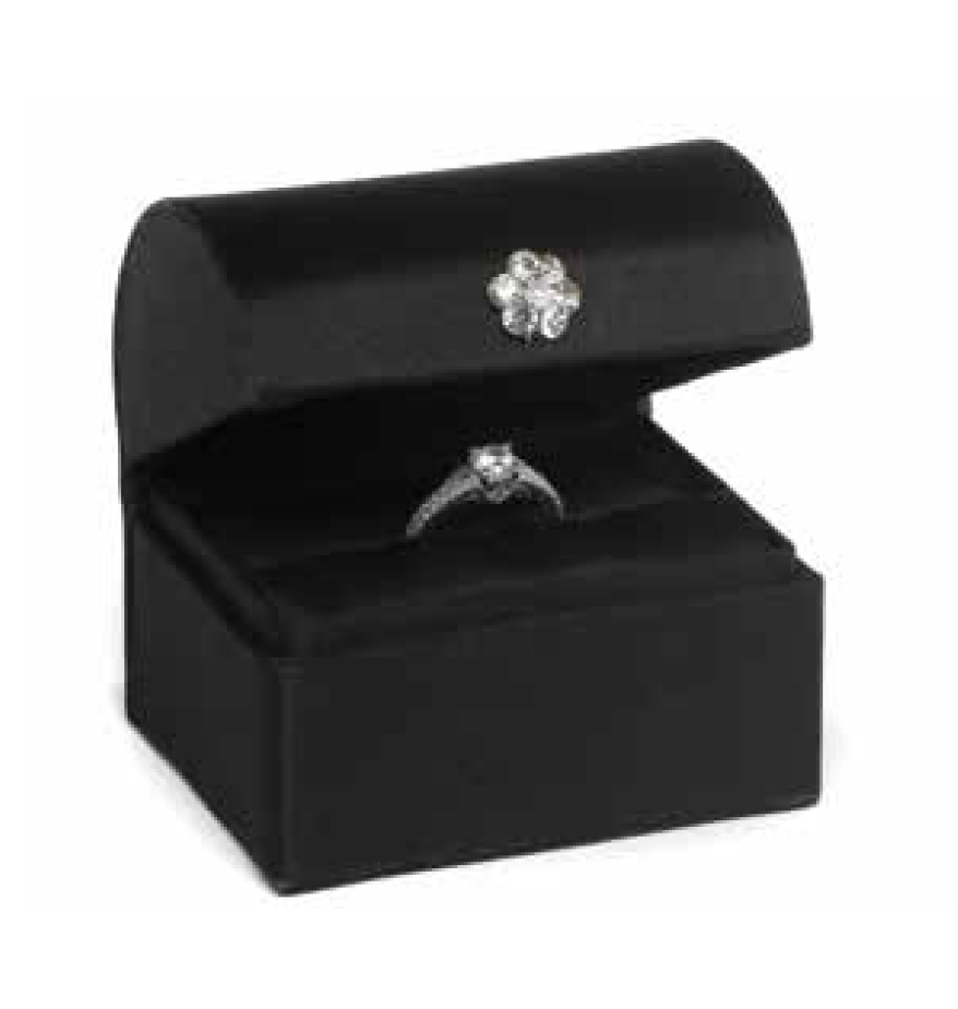 Black Satin Ring Box