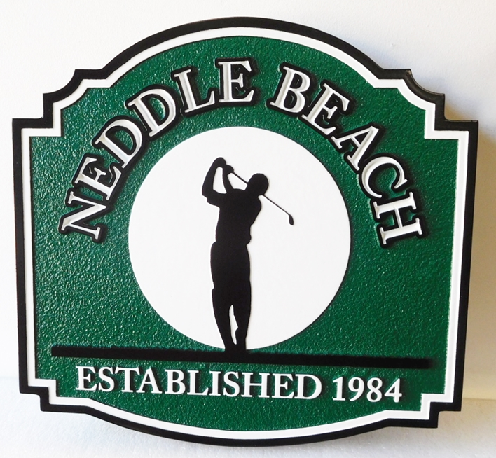 "I18653 - Carved and Sandblasted HDU Residence Name Sign, ""Middle Beach"""
