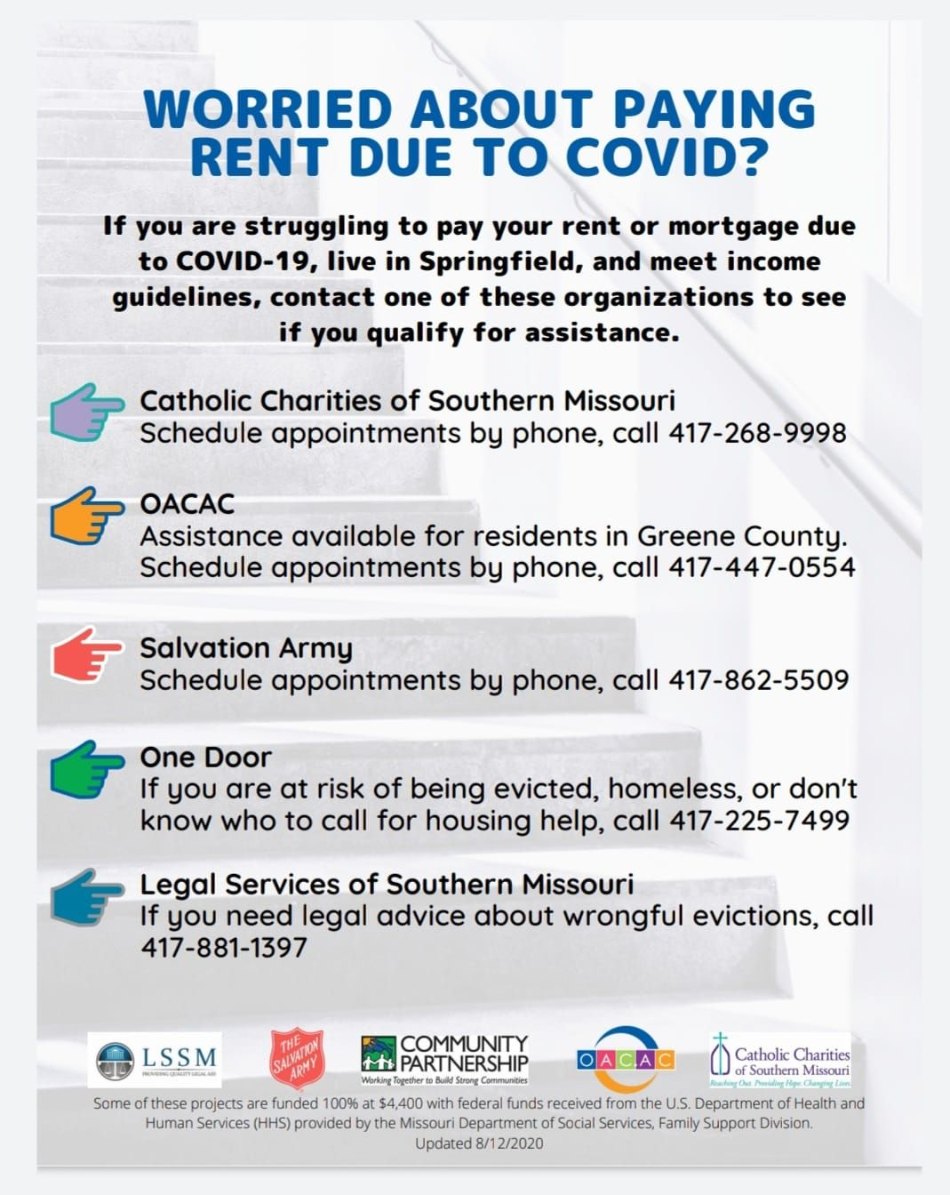 Rent and Mortgage Help Available Now for Springfield Residents