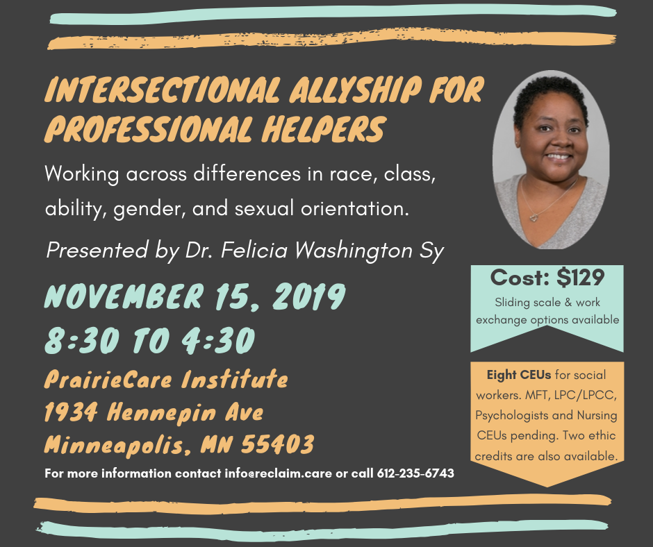 CEU Training: Intersectional Allyship for Professional Helpers
