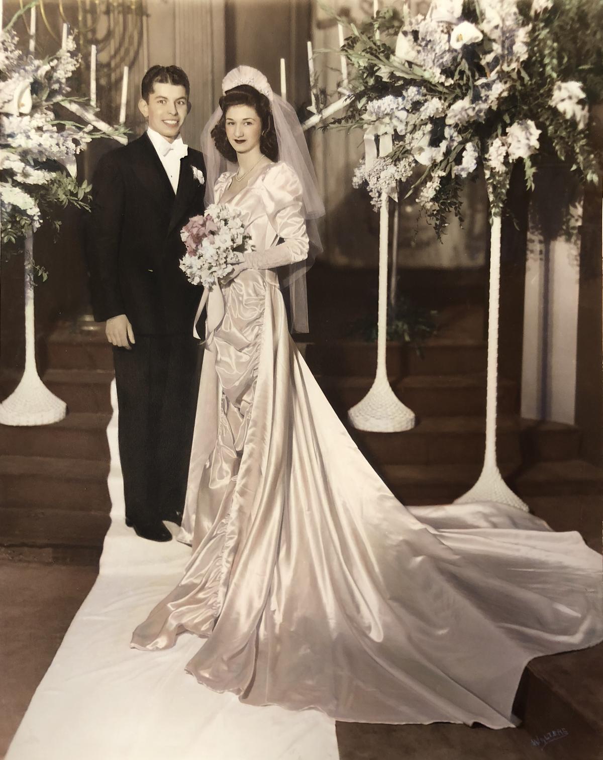 Becky and Jack Benaroya on their wedding day.
