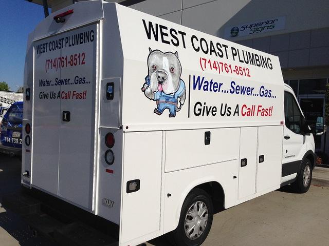 Plumbing contractor vehicle decals Orange County