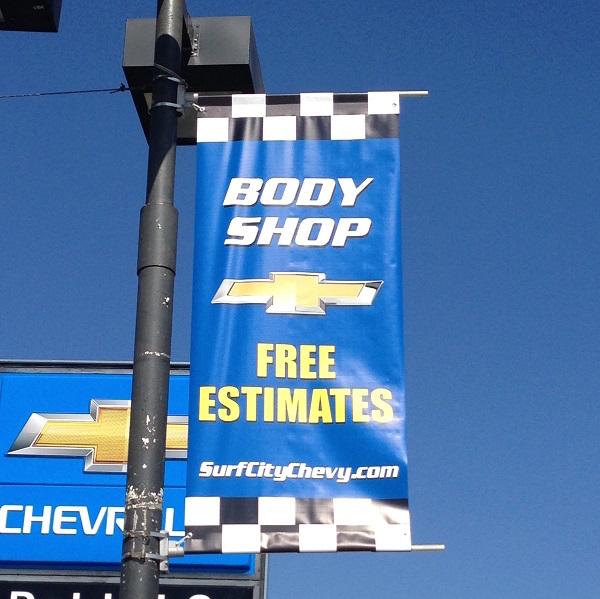Auto Dealer Pole Banner