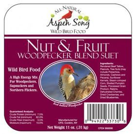 Aspen Song Nut & Fruit Woodpecker Blend Suet