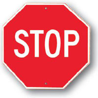 Stop Sign-30 inch x 30 inch