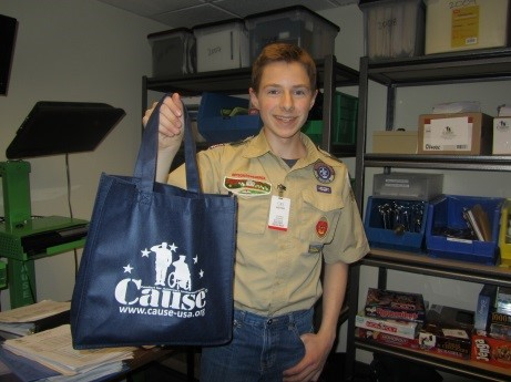 Local Scout's Service Benefits Warriors and their Families