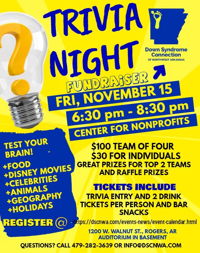 DSCNWA Trivia Night Fundraiser