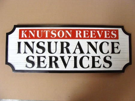 C12500 - Sandblasted Wood Insurance Agent Sign