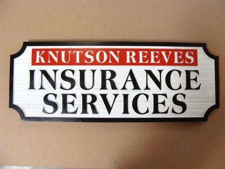 C12501 - Sandblasted Wood Insurance Agent Sign