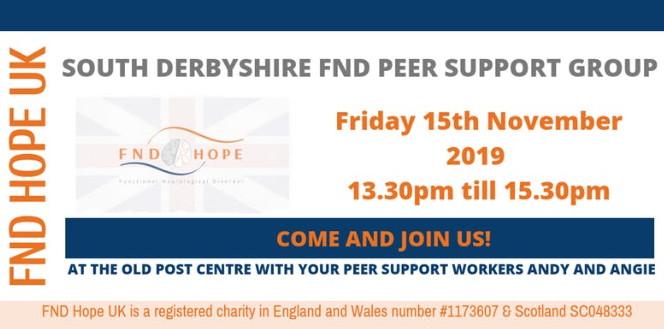New South Derbyshire FND Peer Support Group being launched