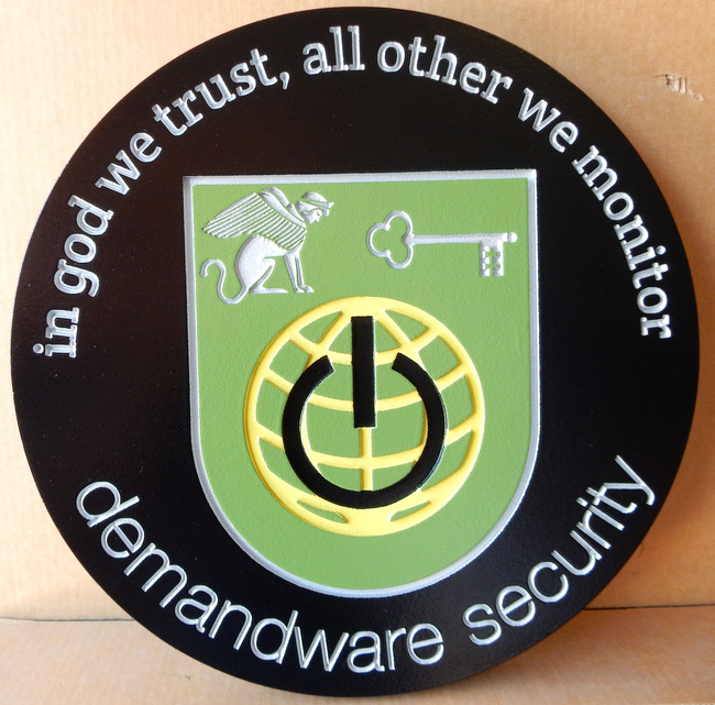 M1276 - Engraved Wall Plaque for a Security Company (Gallery 28A)