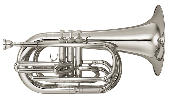 Yamaha YBH-301M Series Marching Bb Baritone (Silver)