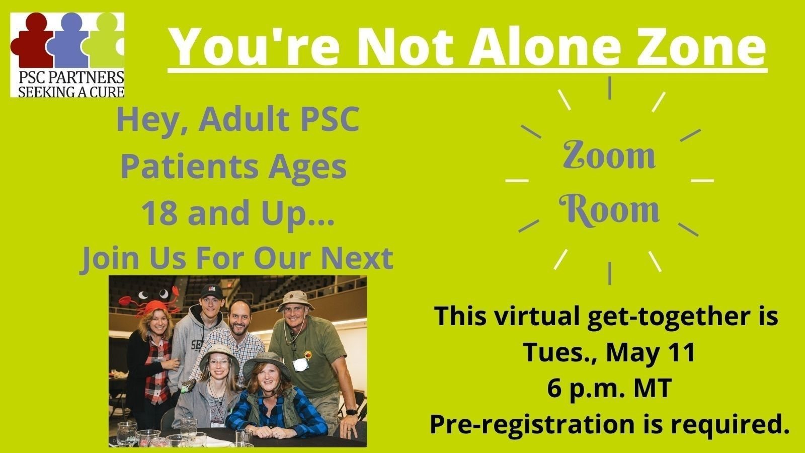 ZoomRoom PSC Adult Patients Ages 18 and Up