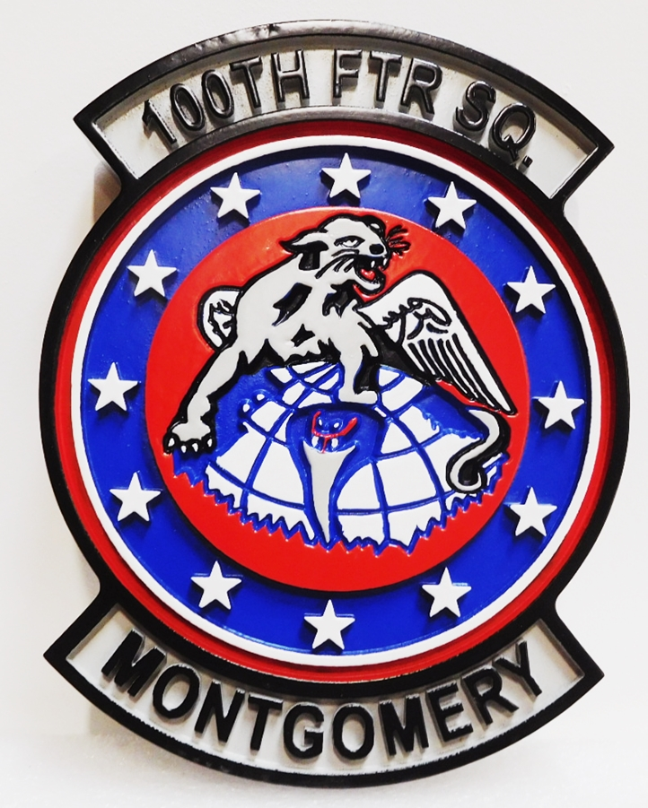 LP-2240 - Carved Plaque of the Crest of the 100th Fighter Squadron