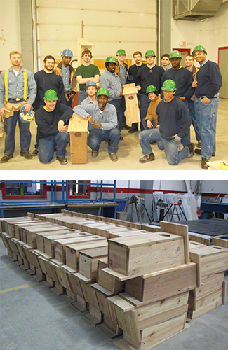 Wisconsin Delta Members Build Hundreds of Wood Duck Boxes