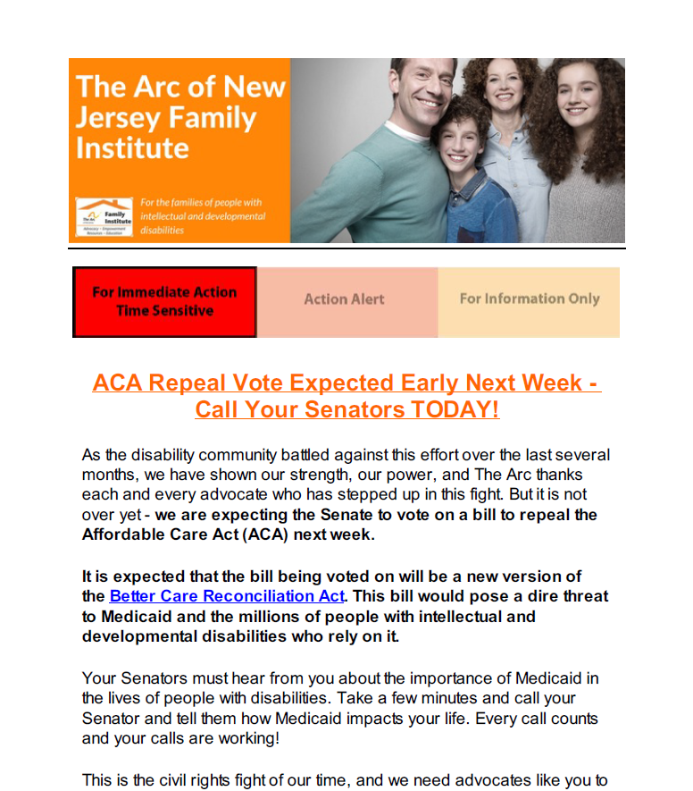 Protect the Lifeline: ACA Repeal Vote Expected Early Next Week 7.21.2017